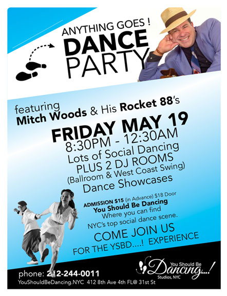 Mitch Woods Dance Party YSBD MAY 19