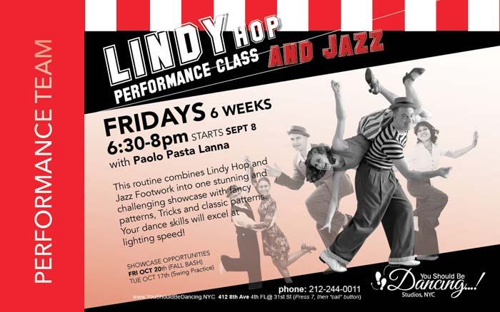 Lindy Hop Performance Workshop