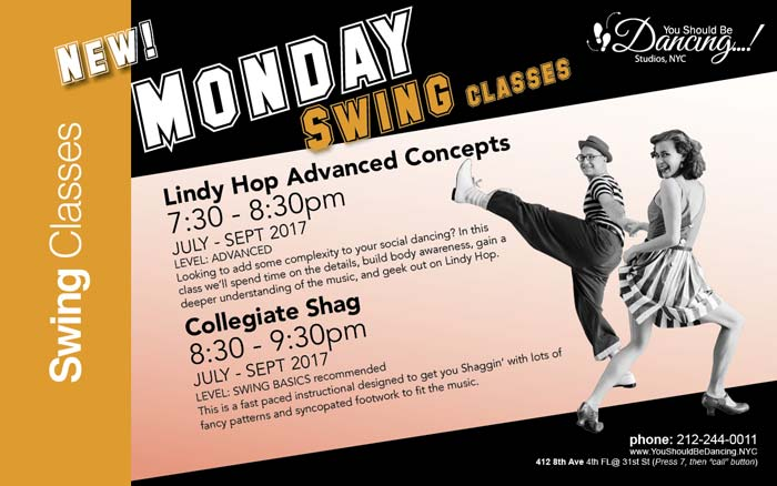 Mondays Lindy Hop and Shag at YSBD