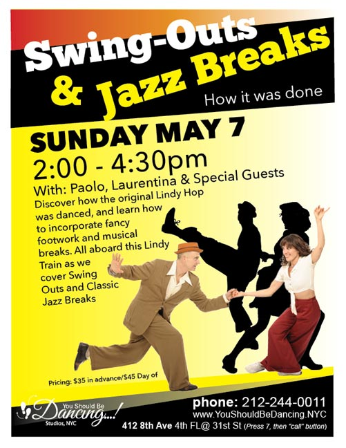 Paolo Swing Outs and Jazz May 9
