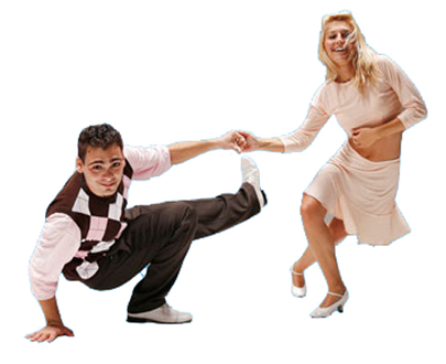 dancers for lindy hop contest