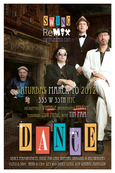 Swing Remix Dance Party with Tin Pan Blues Band